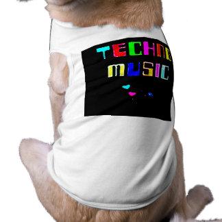 Techno Music heart Dog Clothes