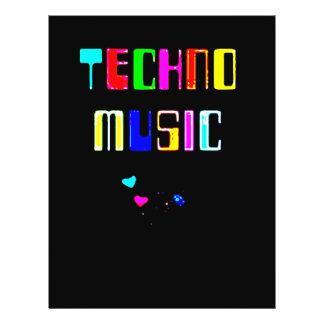 Techno Music heart Flyer
