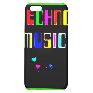 Techno Music heart iPhone 5C Cover