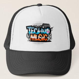 Techno Music Trucker Hat