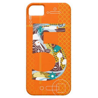 Techno Number 5 iPhone Case iPhone 5 Covers