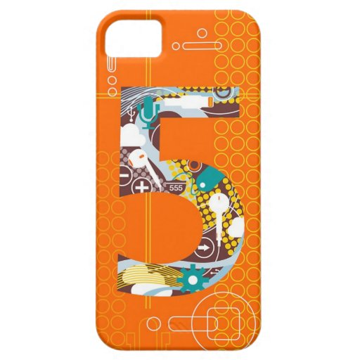 Techno Number 5 iPhone Case