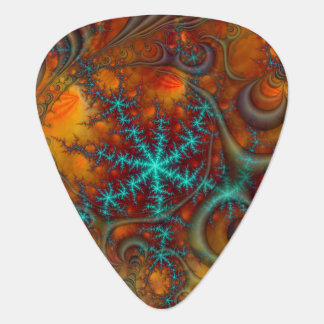 Techno Psychedelic Fractal Guitar Pick