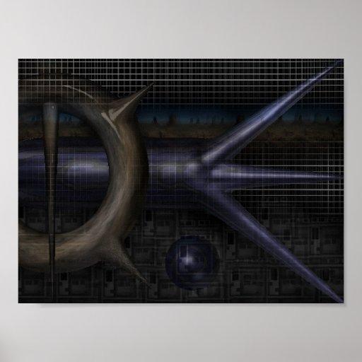 techno-rejilla póster