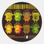 Techno Robot Classic Round Sticker