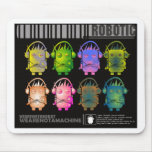 Techno Robot II Mouse Pad