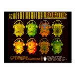 Techno Robot Post Card
