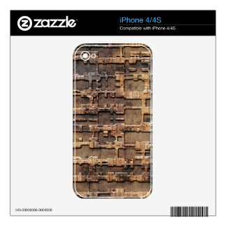 Techno rust pattern decal for the iPhone 4S