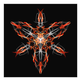 Techno Shaman Energy Focus Invocation Symbol Photo Print