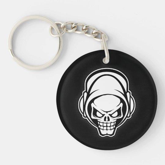 techno skull-key chain keychain