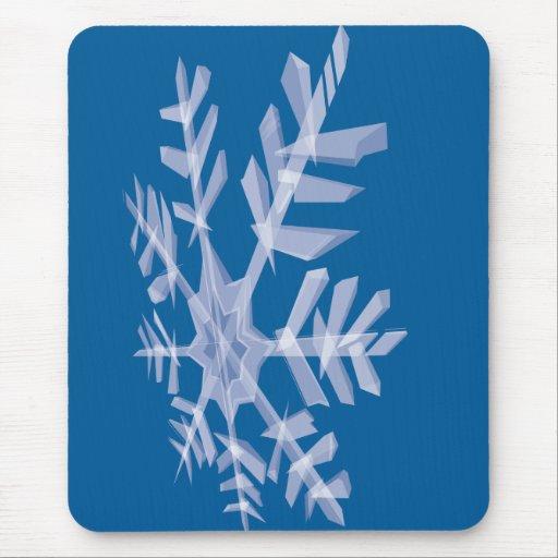 Techno Snowflake Mouse Pad