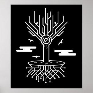 Techno Tree Print
