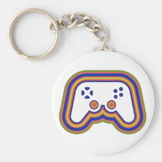 Techno Video Game Controller Keychain