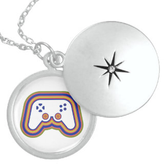 Techno Video Game Controller Locket Necklace