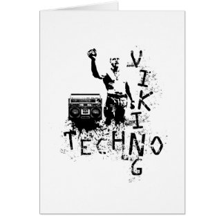 Techno Viking Greeting Cards