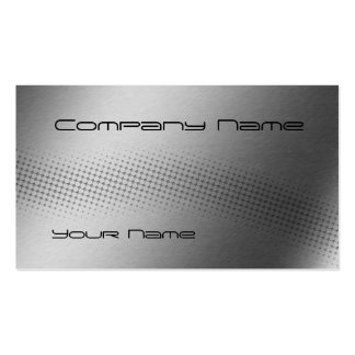 Techno Wave - steel Business Card Template