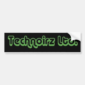 Technoirz Ltd green Car Bumper Sticker