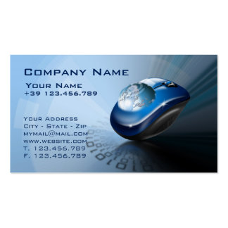 Technological background business card