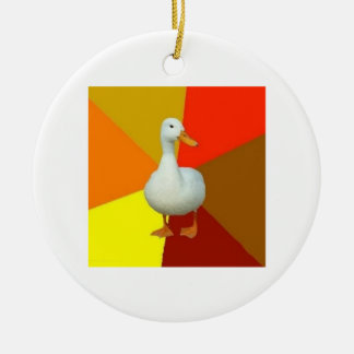 Technologically Impaired Duck Advice Animal Meme Ceramic Ornament