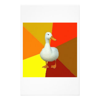 Technologically Impaired Duck Advice Animal Meme Personalized Stationery