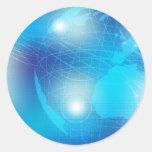 Technology - Background Classic Round Sticker
