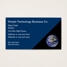 Technology Business Cards at Zazzle