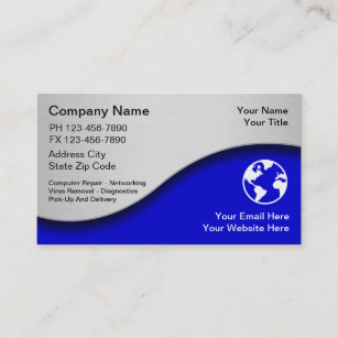 Computer maintenance business cards templates zazzle technology business cards reheart Choice Image