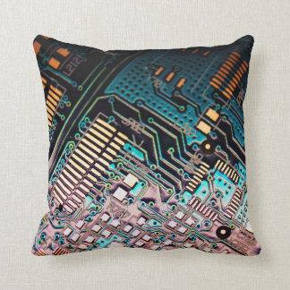 Technology Circuit Board Throw Pillow