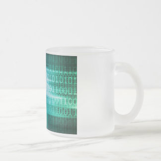Technology Concept with Online Media Abstract Art Frosted Glass Coffee Mug