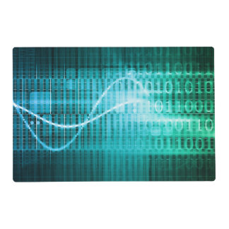 Technology Concept with Online Media Abstract Art Laminated Place Mat