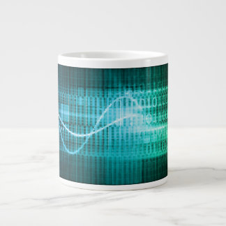 Technology Concept with Online Media Abstract Art Large Coffee Mug
