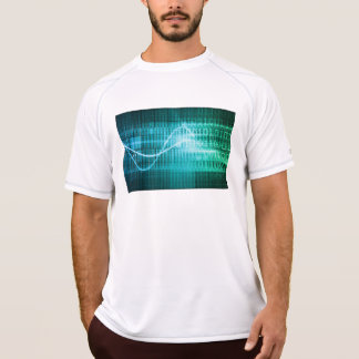 Technology Concept with Online Media Abstract Art T-Shirt