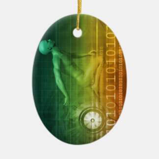 Technology Evolution with Man Evolving with System Ceramic Ornament