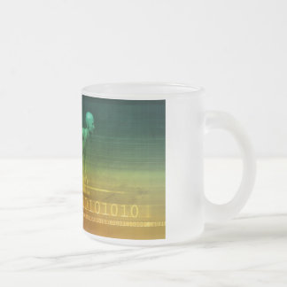 Technology Evolution with Man Evolving with System Frosted Glass Coffee Mug