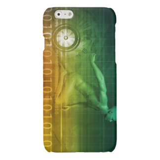Technology Evolution with Man Evolving with System Glossy iPhone 6 Case