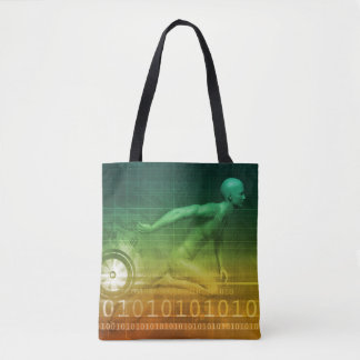 Technology Evolution with Man Evolving with System Tote Bag