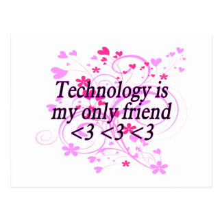 Technology Friend Postcard