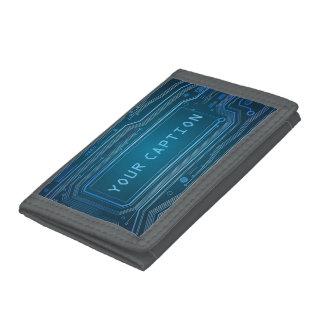 Technology fun. tri-fold wallet