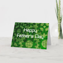 Technology Happy Father's Day Card - A cute tech themed father's Day Card for the engineer or tech head in your life, if you do not like the cheesy greeting inside, by all means go ahead and change it!