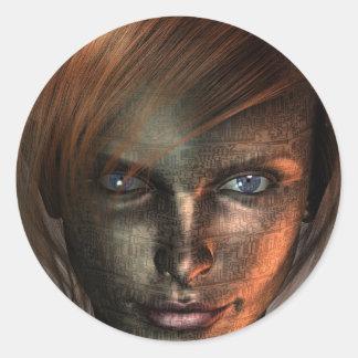 Technology Human Classic Round Sticker