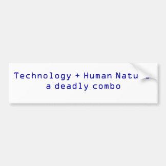 Technology + Human Nature Bumper Sticker