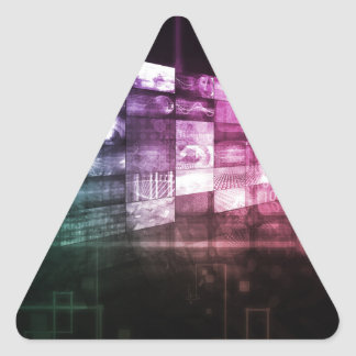 Technology Infrastructure as a IT Abstract Art Triangle Sticker