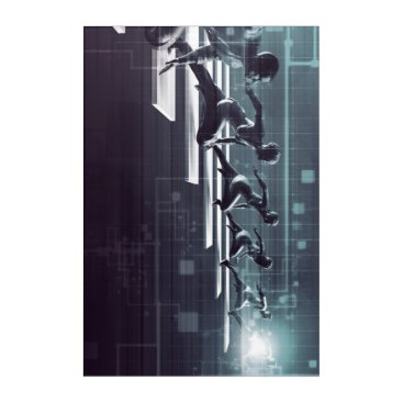Professional Business Technology Innovation and Empowered Business Acrylic Wall Art
