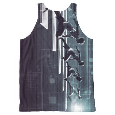Professional Business Technology Innovation and Empowered Business All-Over-Print Tank Top