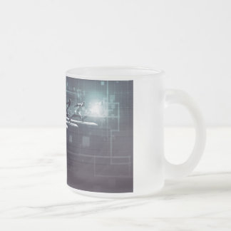 Technology Innovation and Empowered Business Frosted Glass Coffee Mug