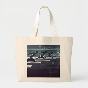 Professional Business Technology Innovation and Empowered Business Large Tote Bag