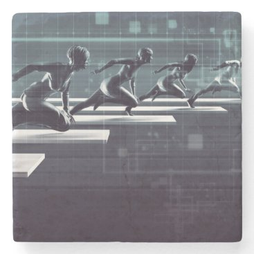 Professional Business Technology Innovation and Empowered Business Stone Coaster