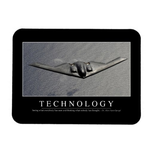 Technology: Inspirational Quote Vinyl Magnets