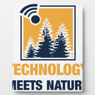 Technology Meets Nature Display Plaques