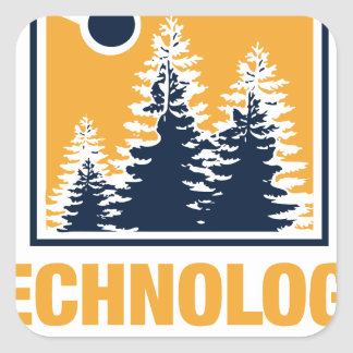 Technology Meets Nature Square Sticker